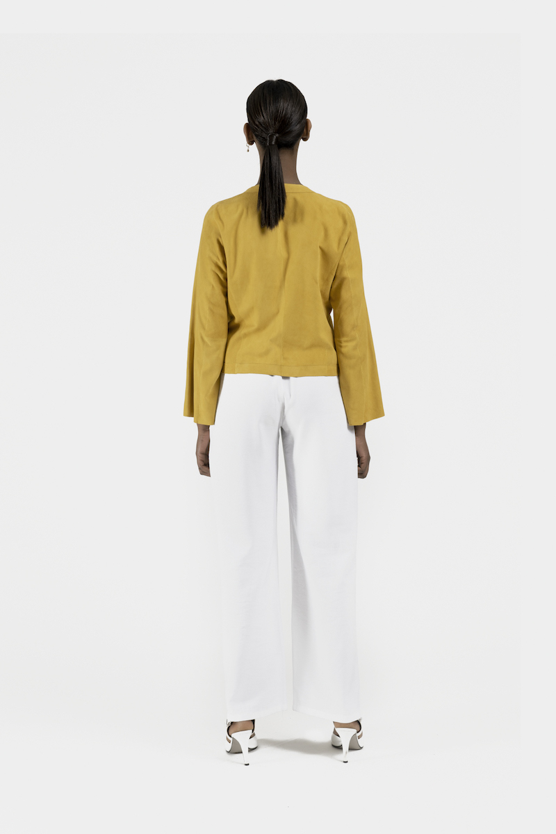 Halo-veste-courte-daim-jaune-dos