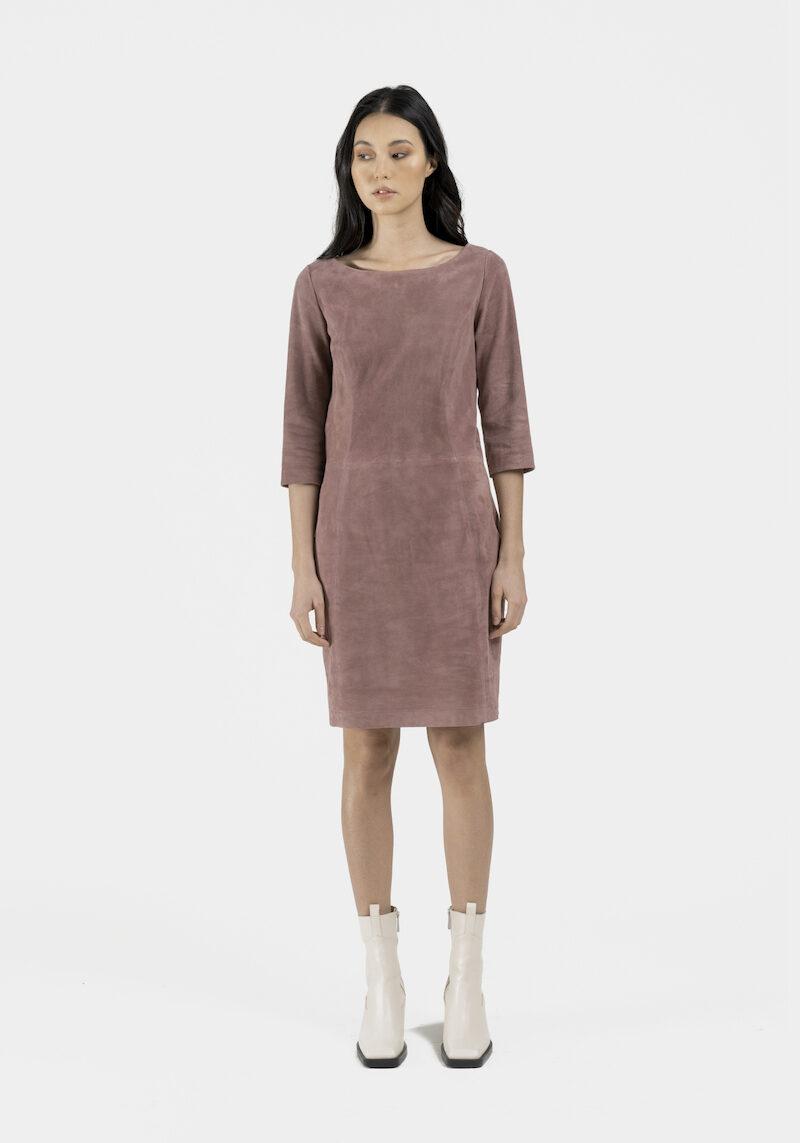Porto-robe-daim-stretch-rose-devant