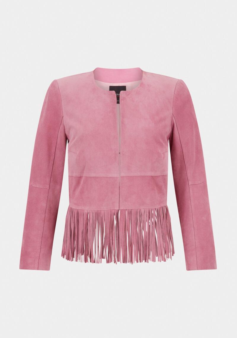 bilbao-veste-daim-velours-franges-legere-classe-elegante-rose