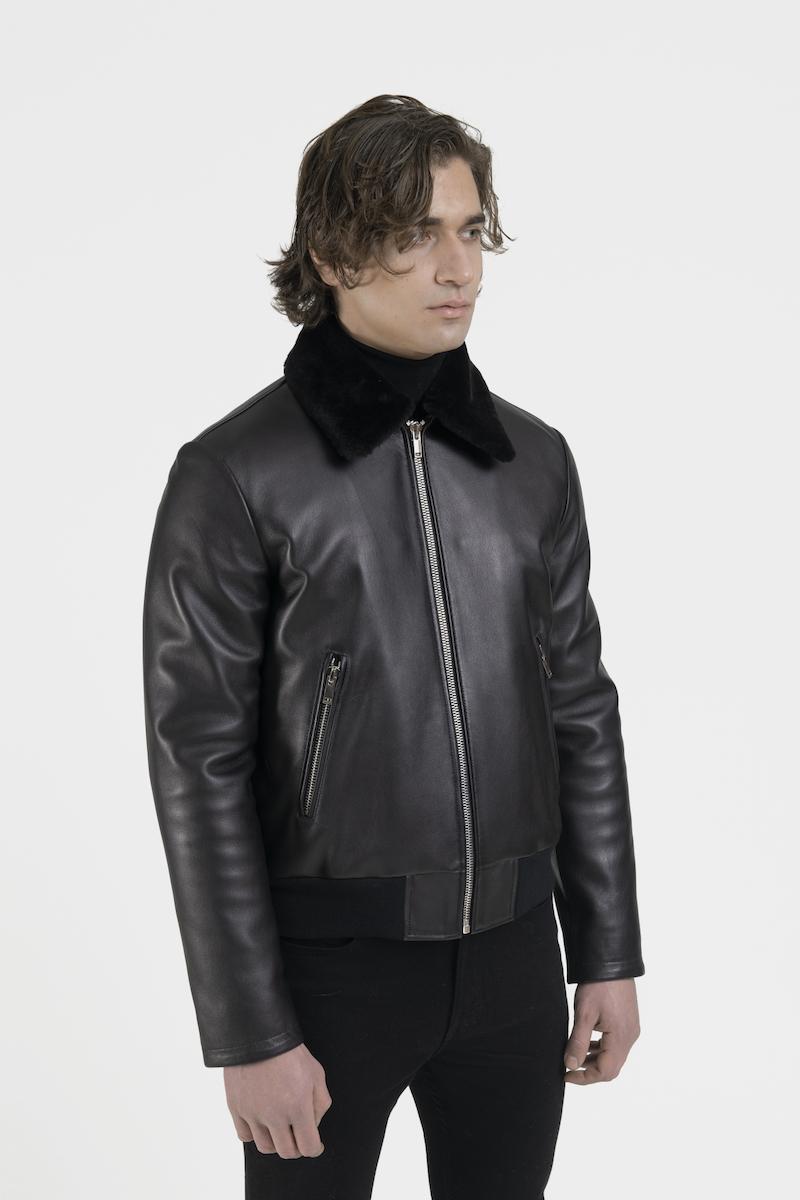 Legato-blouson-veste-cuir-agneau-noir-cote