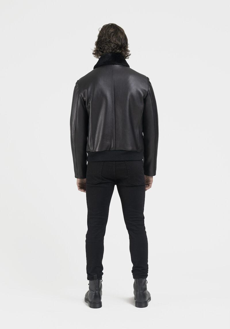 Legato-blouson-veste-cuir-agneau-noir-dos