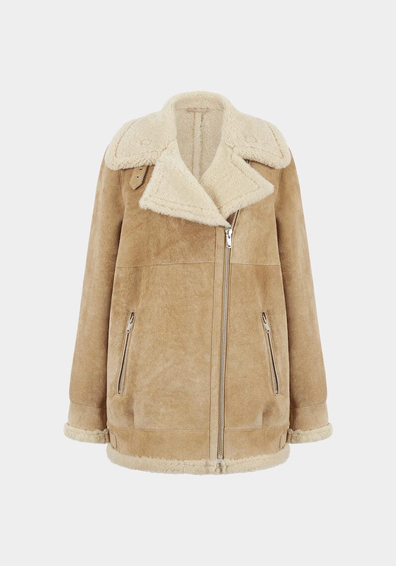 london-veste-perfecto-chaude-confortable-grand-col-agneau-retourne-peau-lainee