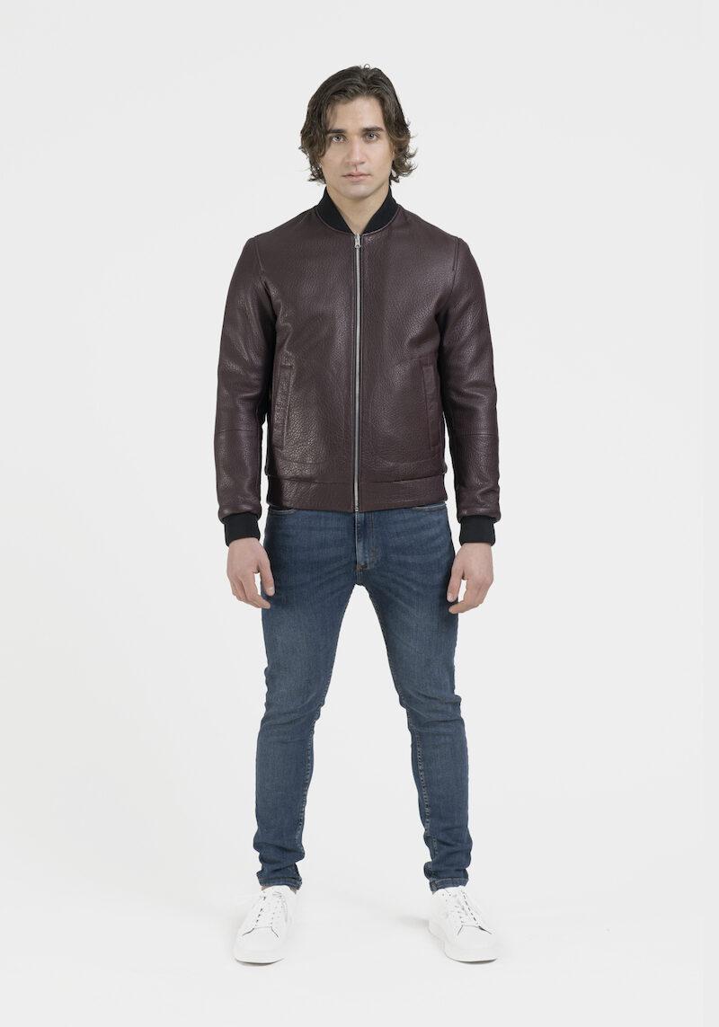raphael-blouson-veste-réversible-tissu-cuir-agneau-dev-veritable