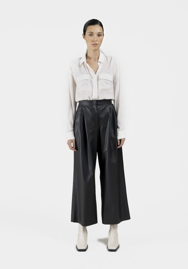 Venezia-pantalon-large-taille-haute-cuir-vegan-dev