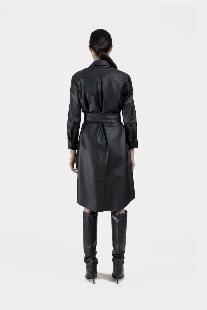 Venus-robe-cuir-vegan-dos