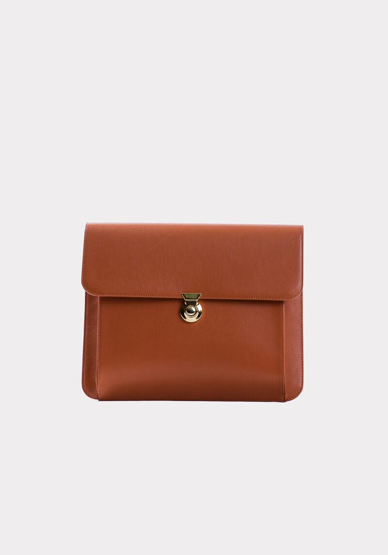 athena-sac-a-main-pochette-cuir-veau-italien-pleine-fleur-orange-face