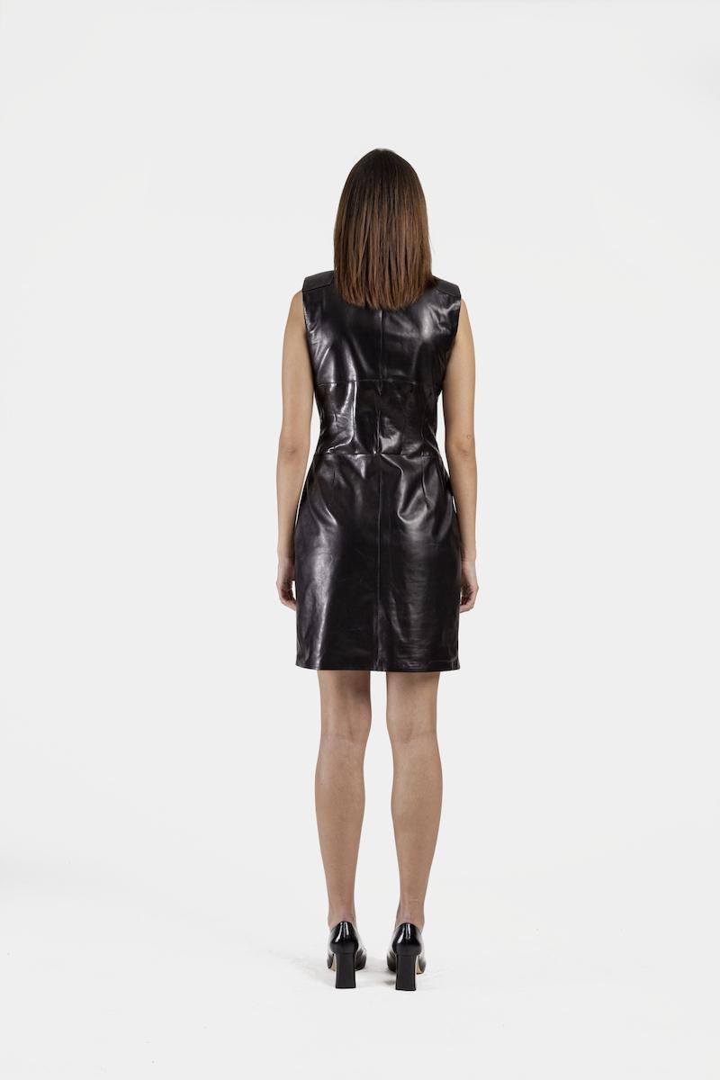 Dakota-robe-cuir-agneau-plongé-dos