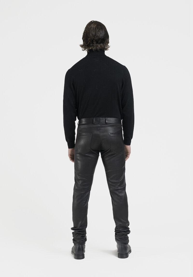 Leny-pantalon-coupe-jeans-cuir-agneau-noir-dos