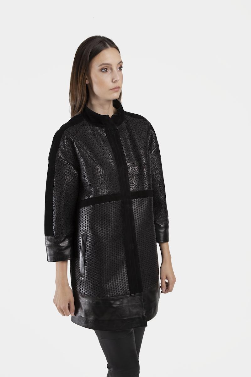 Nora-veste-exclusive-daim-cuir-agneau-perfore-cote