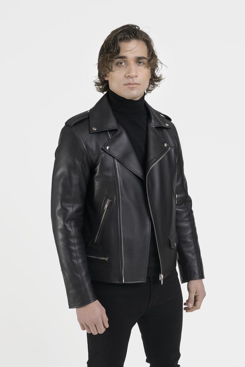 Perfecto-veste-blouson-cuir-agneau-noir-cote