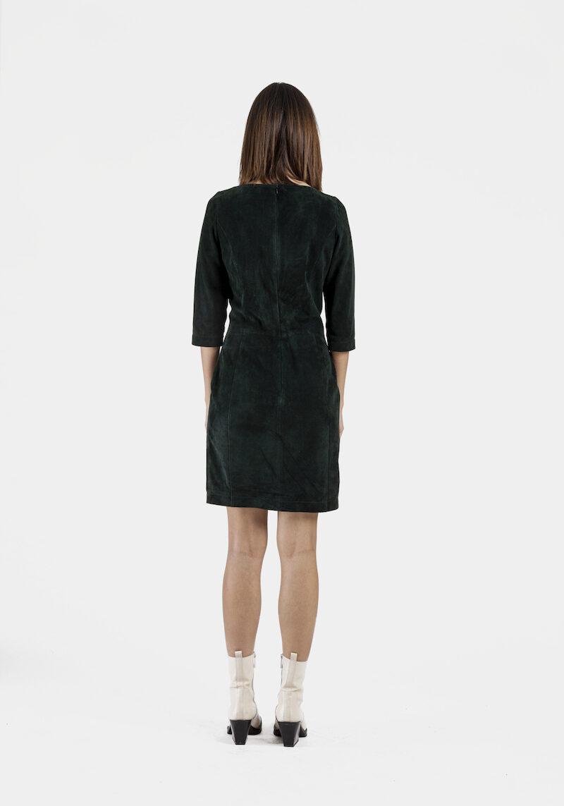 Porto-robe-daim-stretch-vert-dos