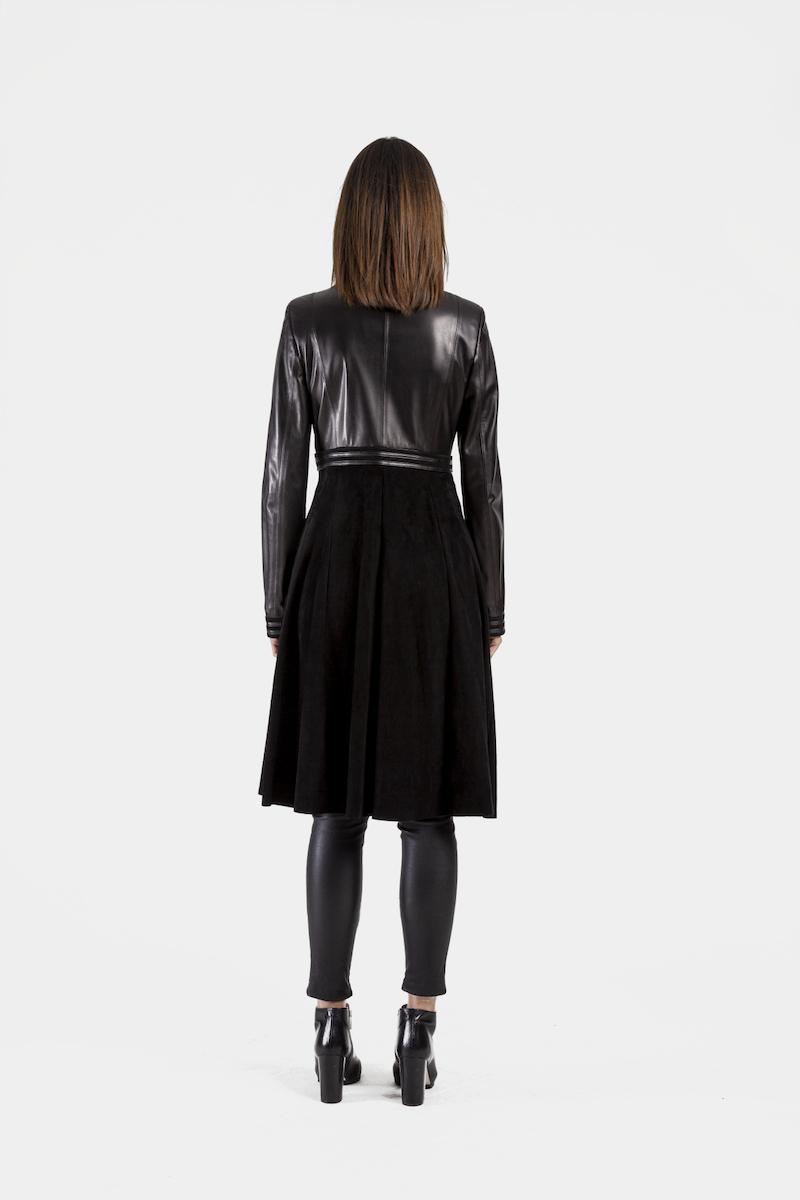 Sephora-longue-veste-matrix-daim-cuir-agneau-dos