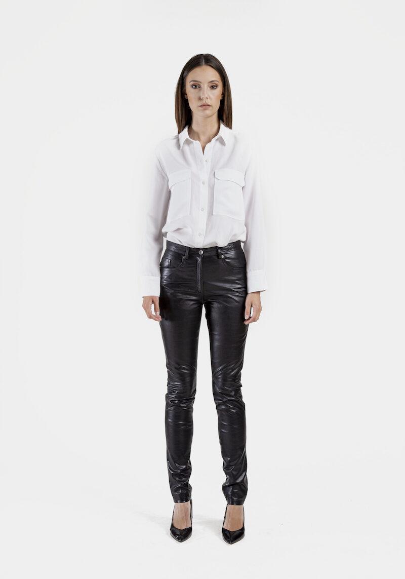 Sting-pantalon-cuir-agneau-coupe-jeans-devant