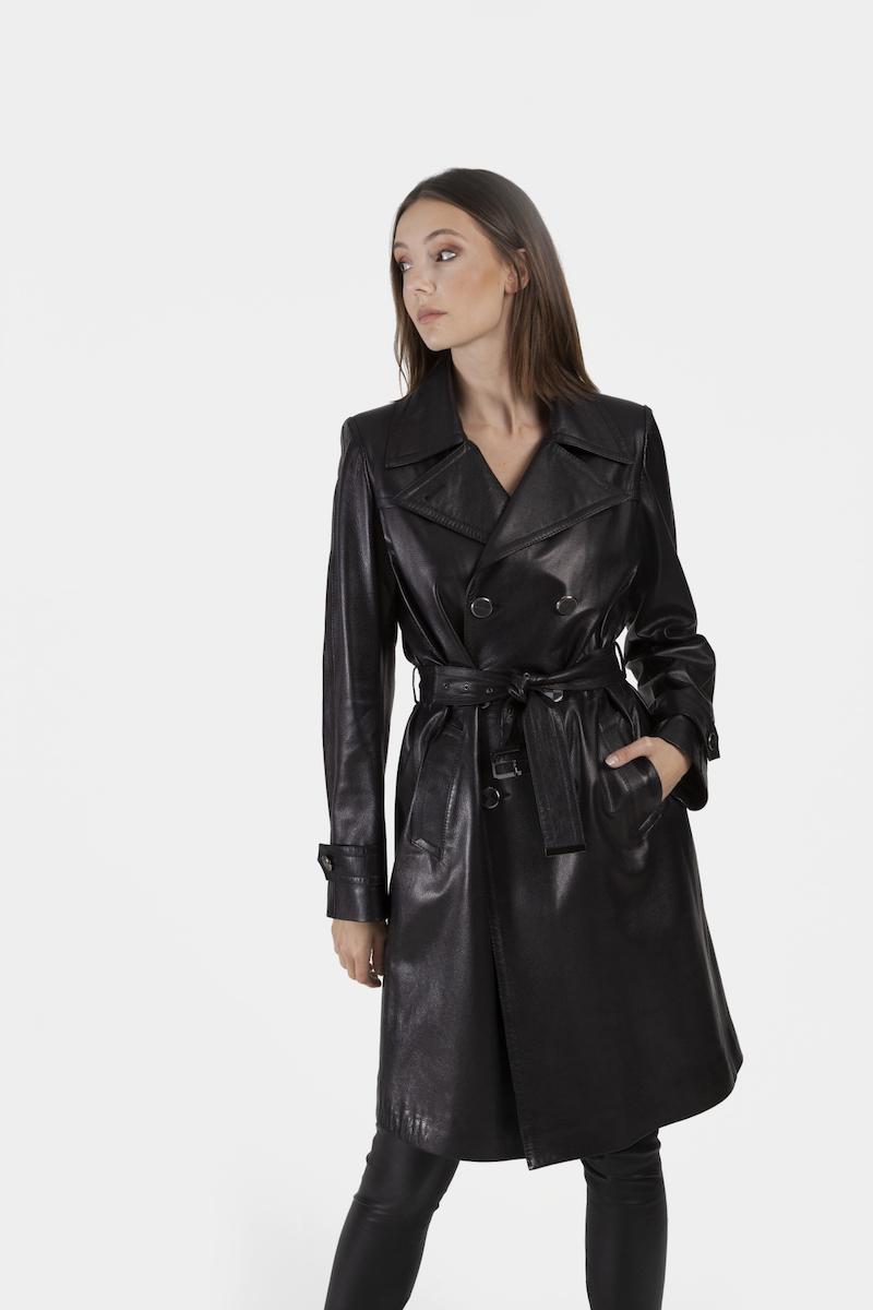 Trench-ceinture-exclusif-cuir-agneau-noir-closeup