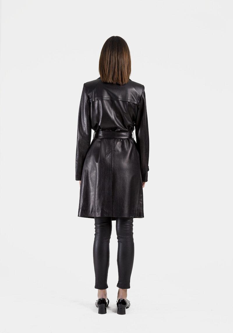 Trench-ceinture-exclusif-cuir-agneau-noir-dos