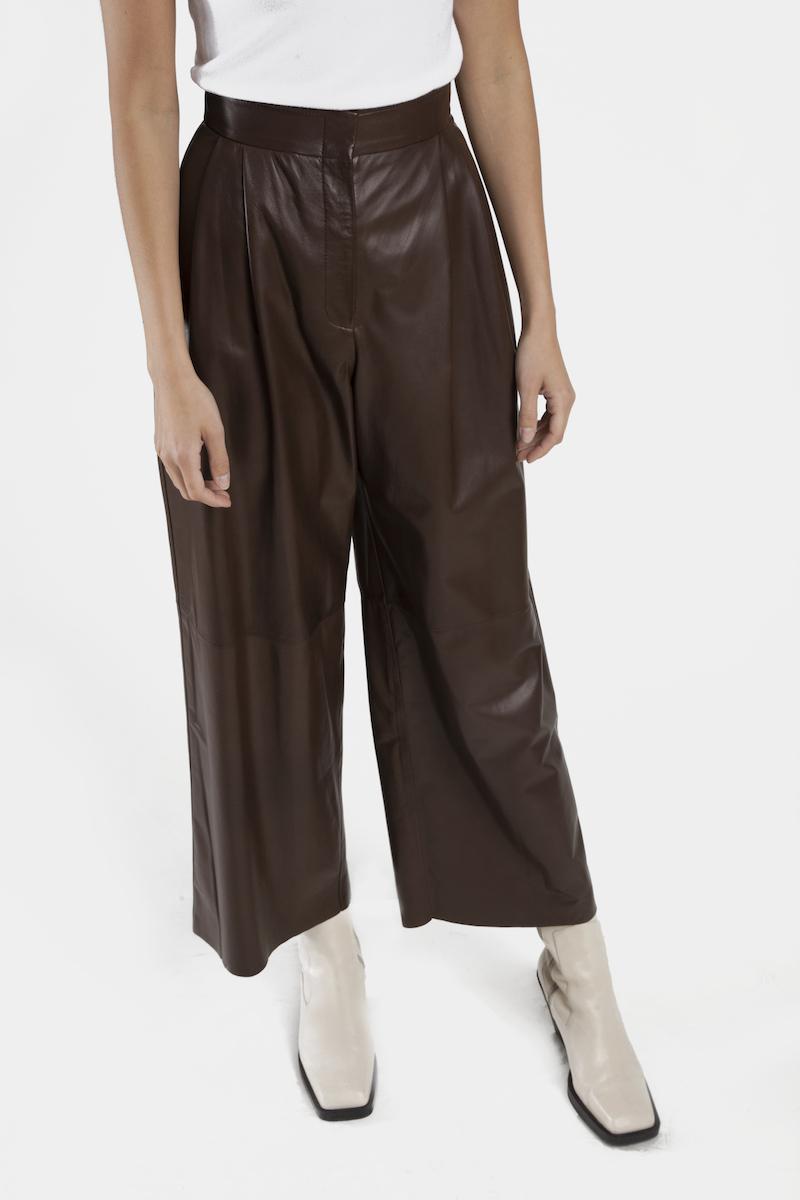 Venezia-pantalon-large-taille-haute-cuir-agneau-cote