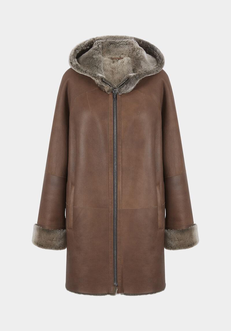 racket-veste-chaude-confortable-capuchon-agneau-retourne-peau-lainee