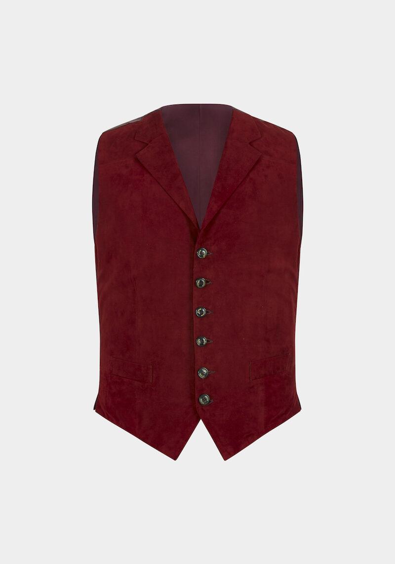 ralph-gilet-daim-velours-col-revers-classe-elegant-rouge