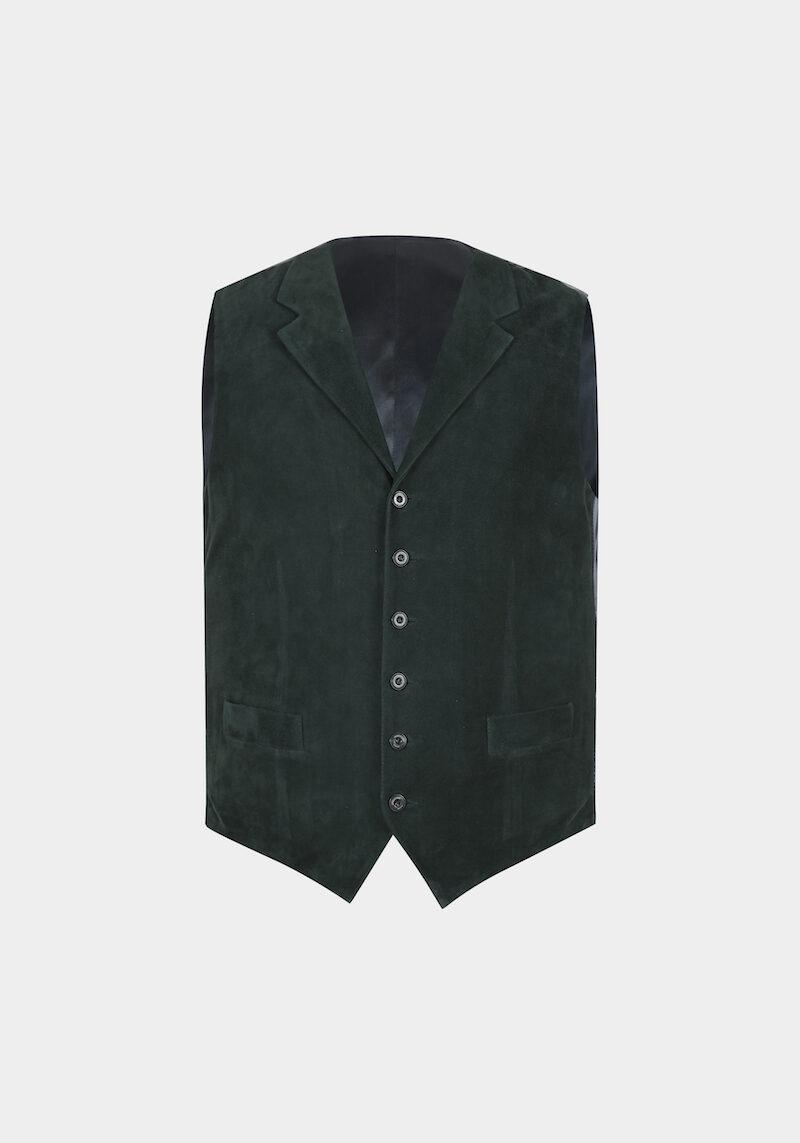 ralph-gilet-daim-velours-col-revers-classe-elegant-vert