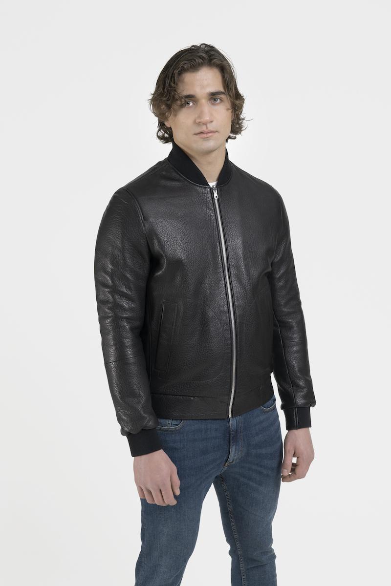 raphael-blouson-veste-réversible-tissu-cuir-agneau-cote