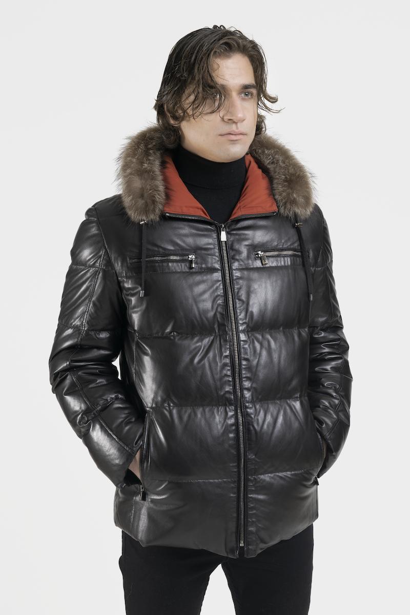 sisto-blouson-veste-doudoune-capuchon-cuir-agneau-cote