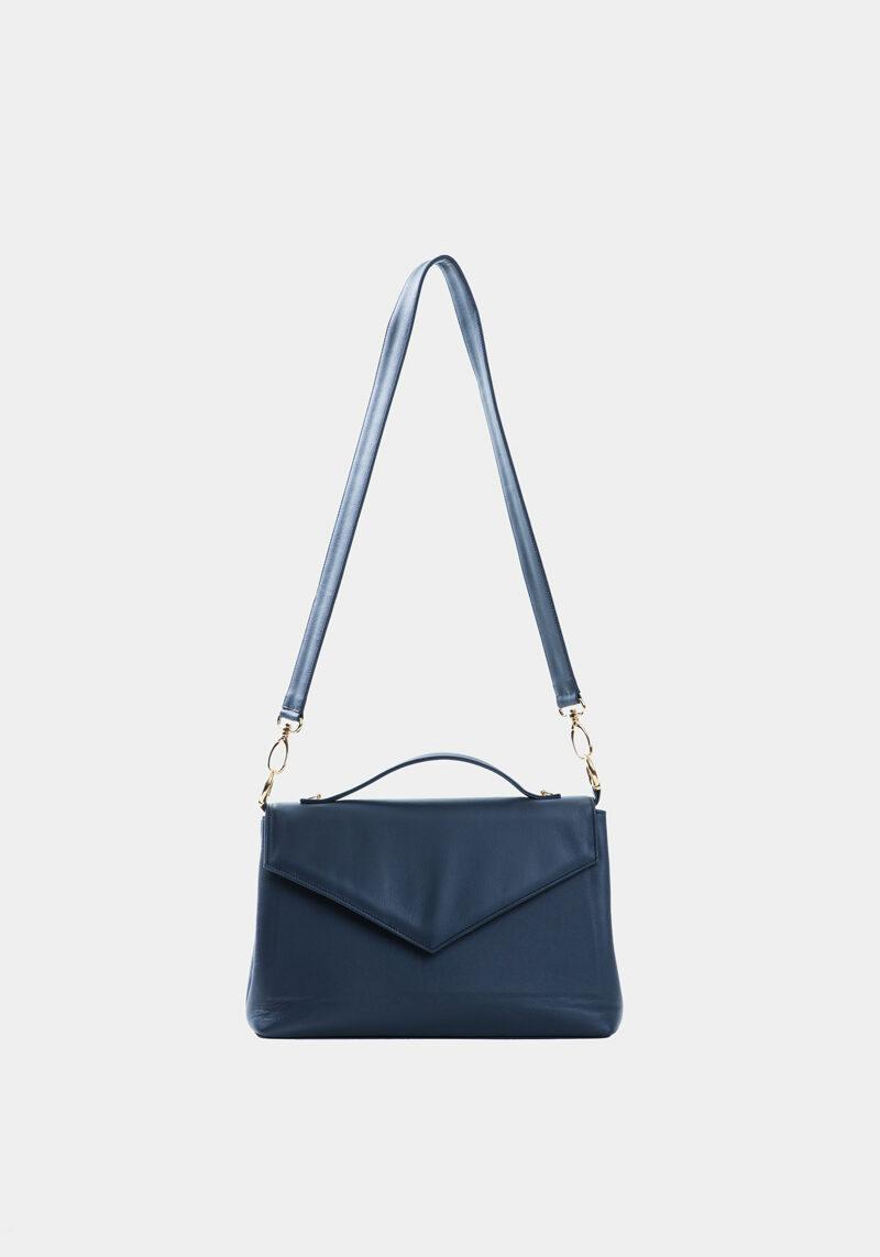 amazone-sac-a-main-pochette-enveloppe-bandouliere-cuir-veau-italien-pleine-fleur-bleu-face
