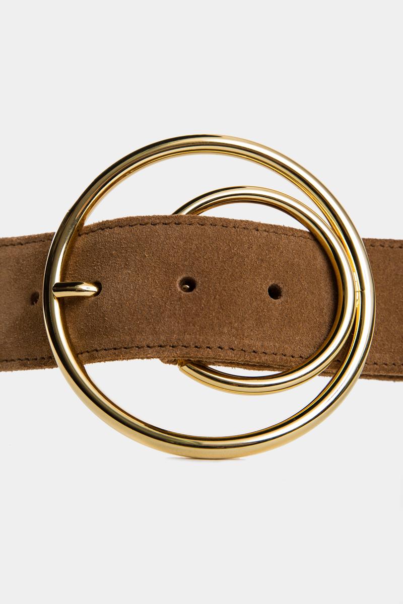 cybele-ceinture-brun-boucle-ronde-gold-cuir-daim-veau-pleine-fleur-detail