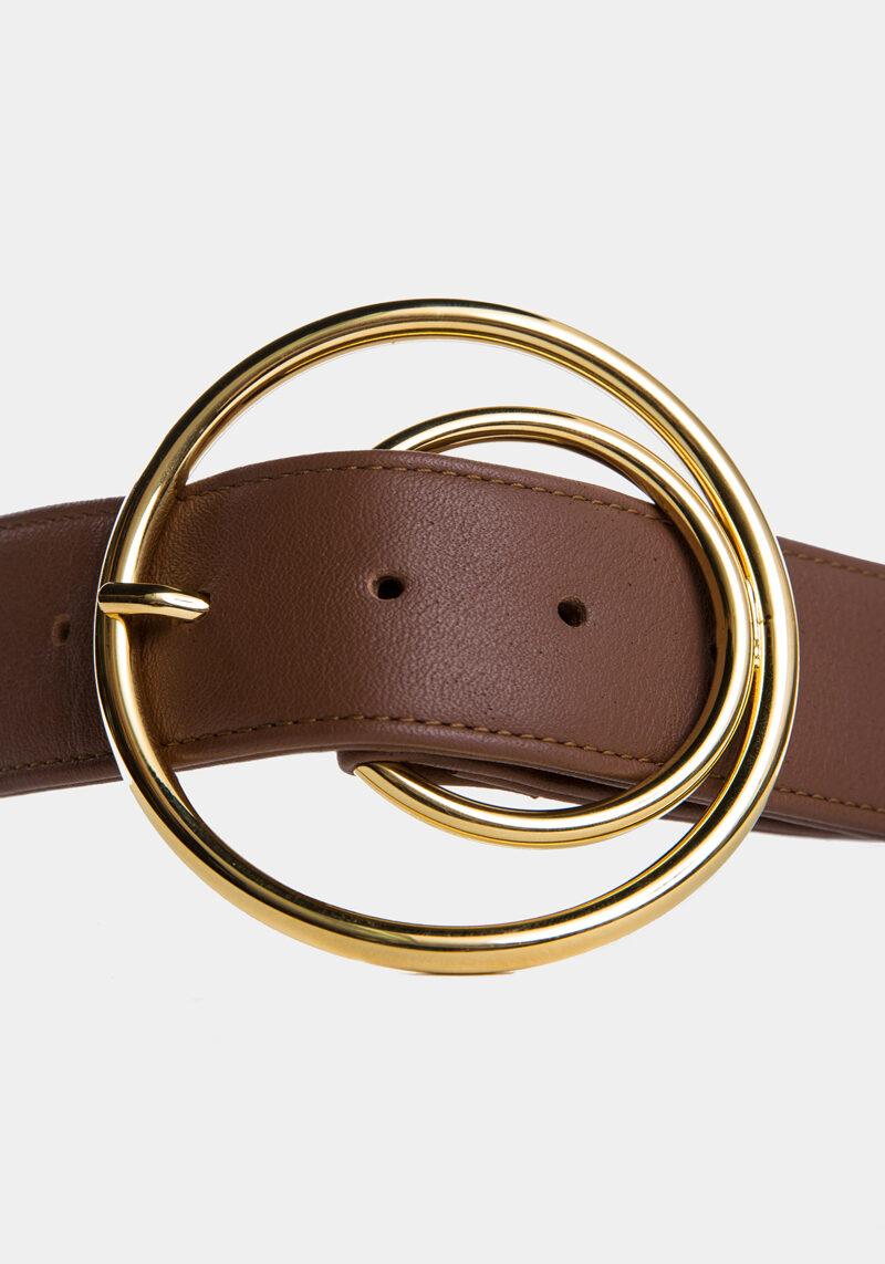 cybele-ceinture-brun-boucle-ronde-gold-cuir-veau-pleine-fleur-detail
