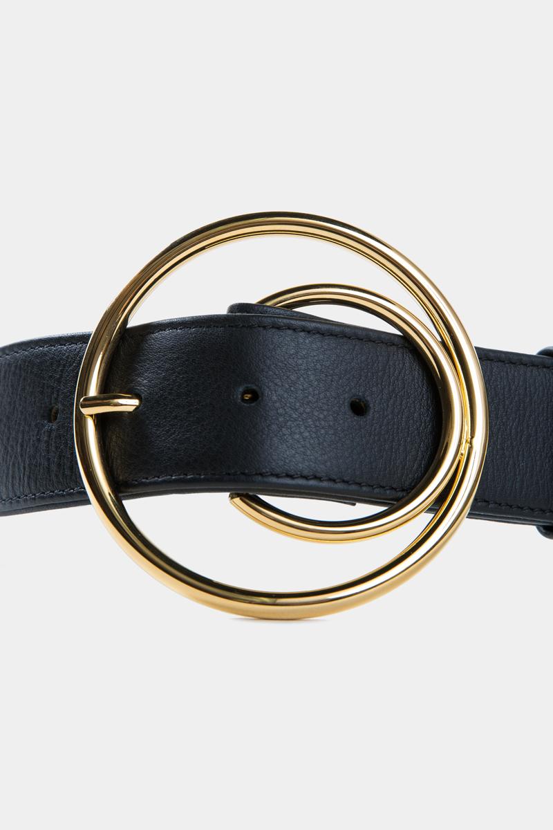 cybele-ceinture-noire-boucle-ronde-gold-cuir-veau-pleine-fleur-detail