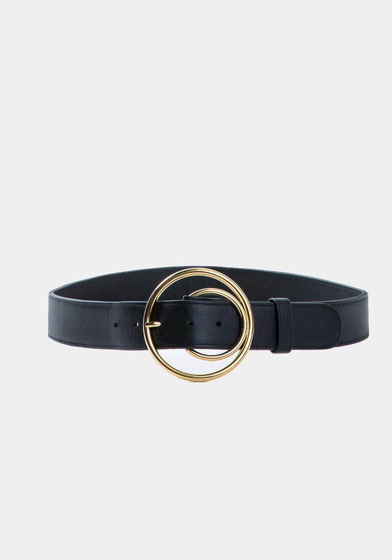 cybele-ceinture-noire-boucle-ronde-gold-cuir-veau-pleine-fleur-face