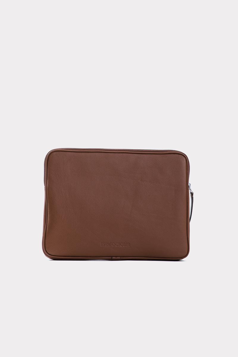 housse-pochette-ordinateur-cuir-veritable-luxe-brun-face
