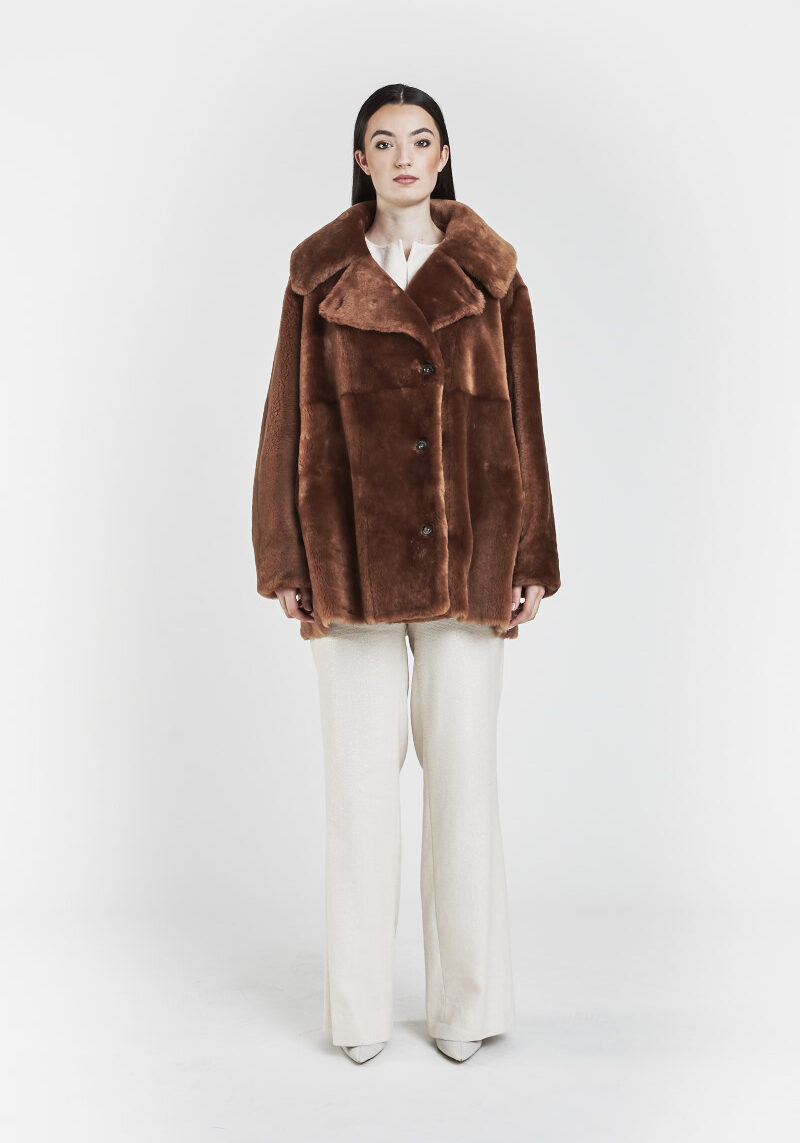 amaro-veste-chaude-confortable-reversible-grand-col-agneau-retourne-peau-lainee-brun-1