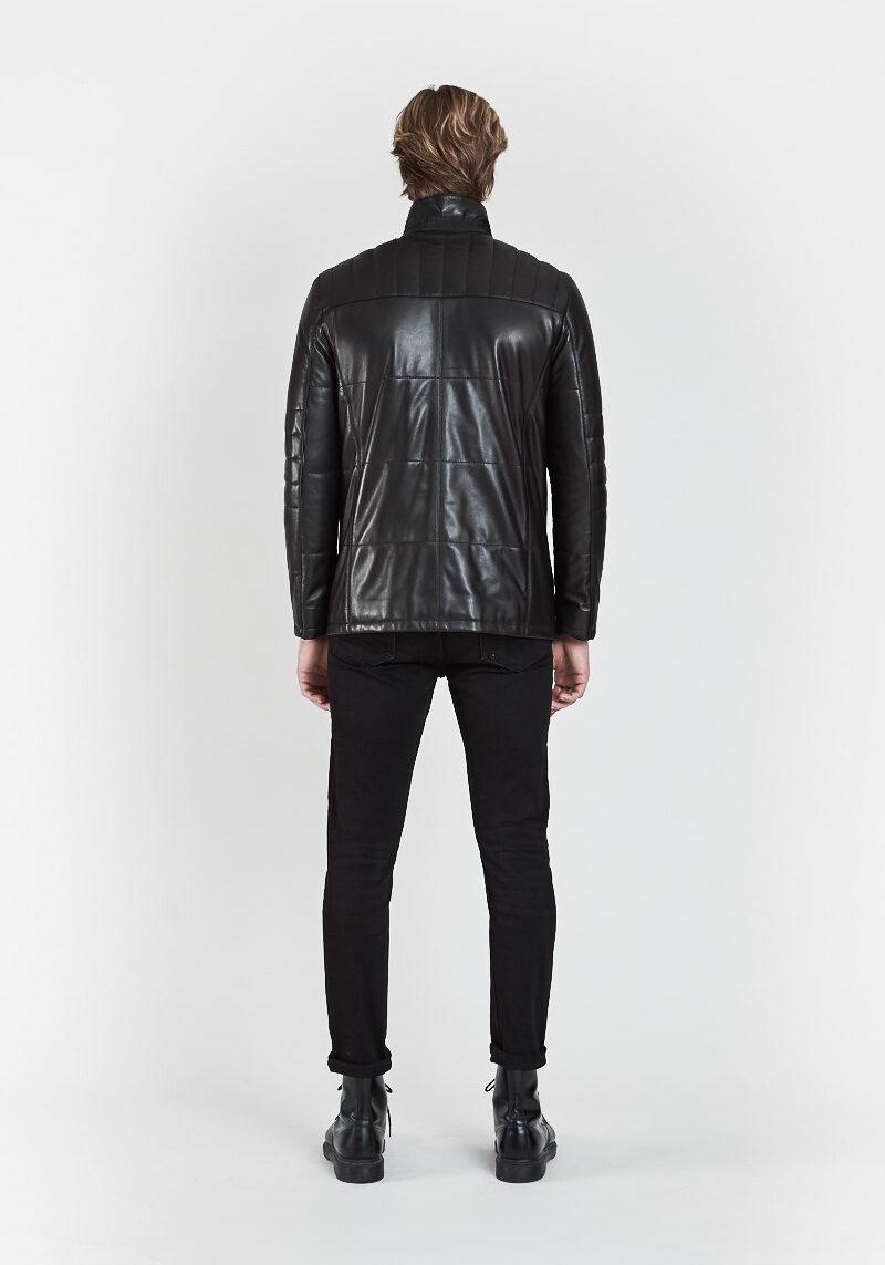 faustino-veste-confort-elegante-matelassee-cuir-agneau-dos