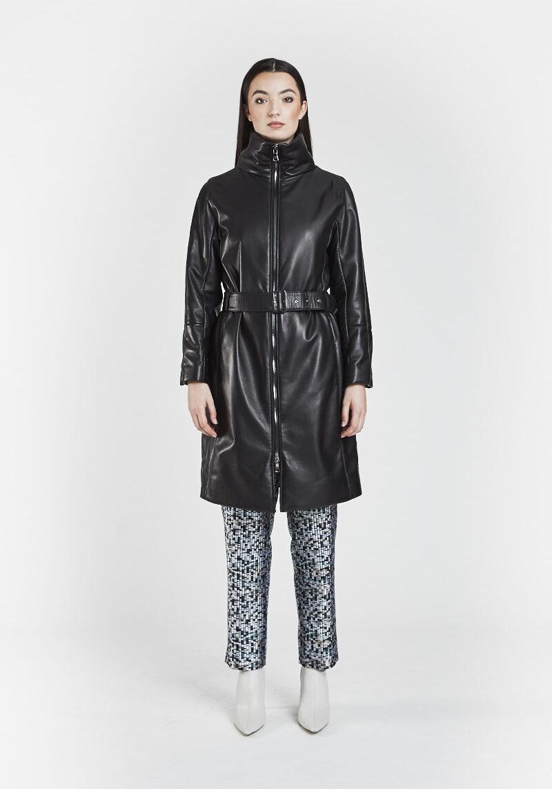 felicia-manteau-chaud-confortable-ceinture-cuir-agneau-noir-1