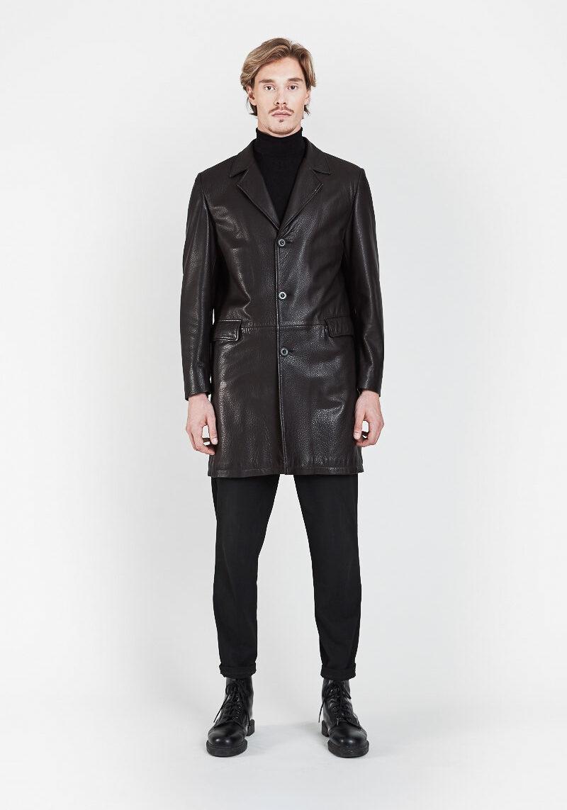 felipe-manteau-vintage-col-revers-cuir-agneau-graine-devant
