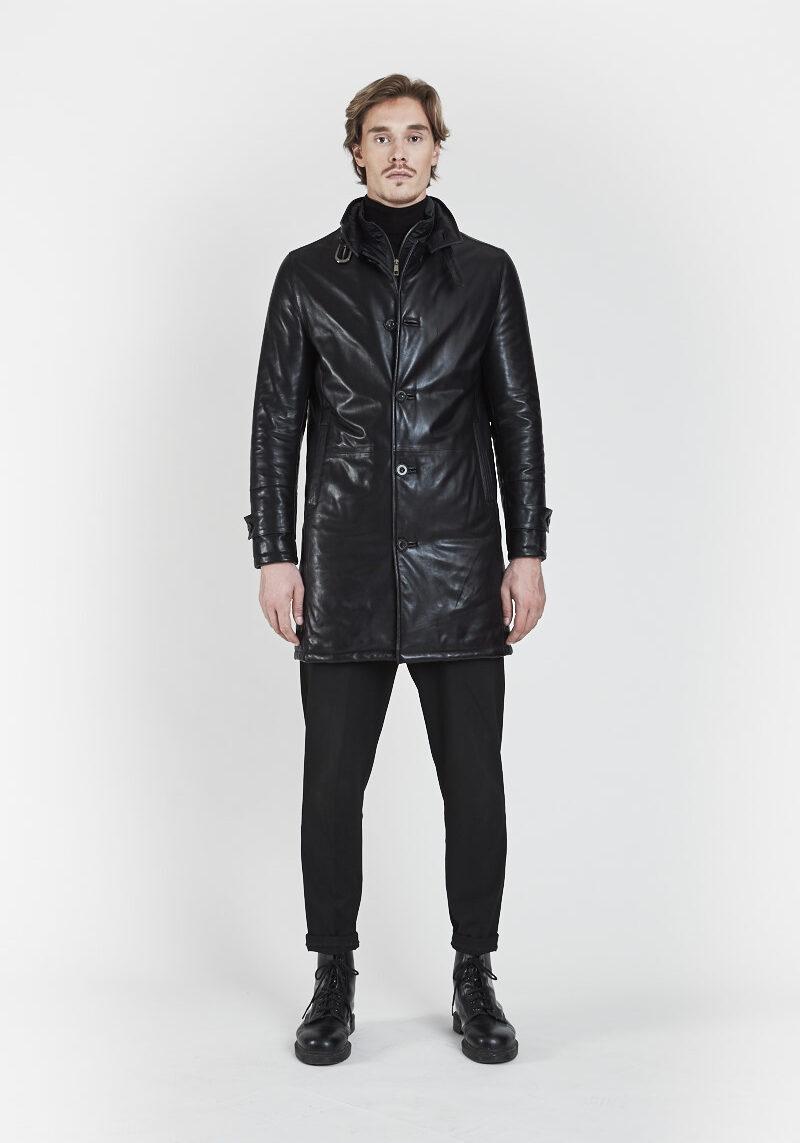 felix-manteau-doudoune-chaud-confortable-cuir-agneau-coupe-vent-devant