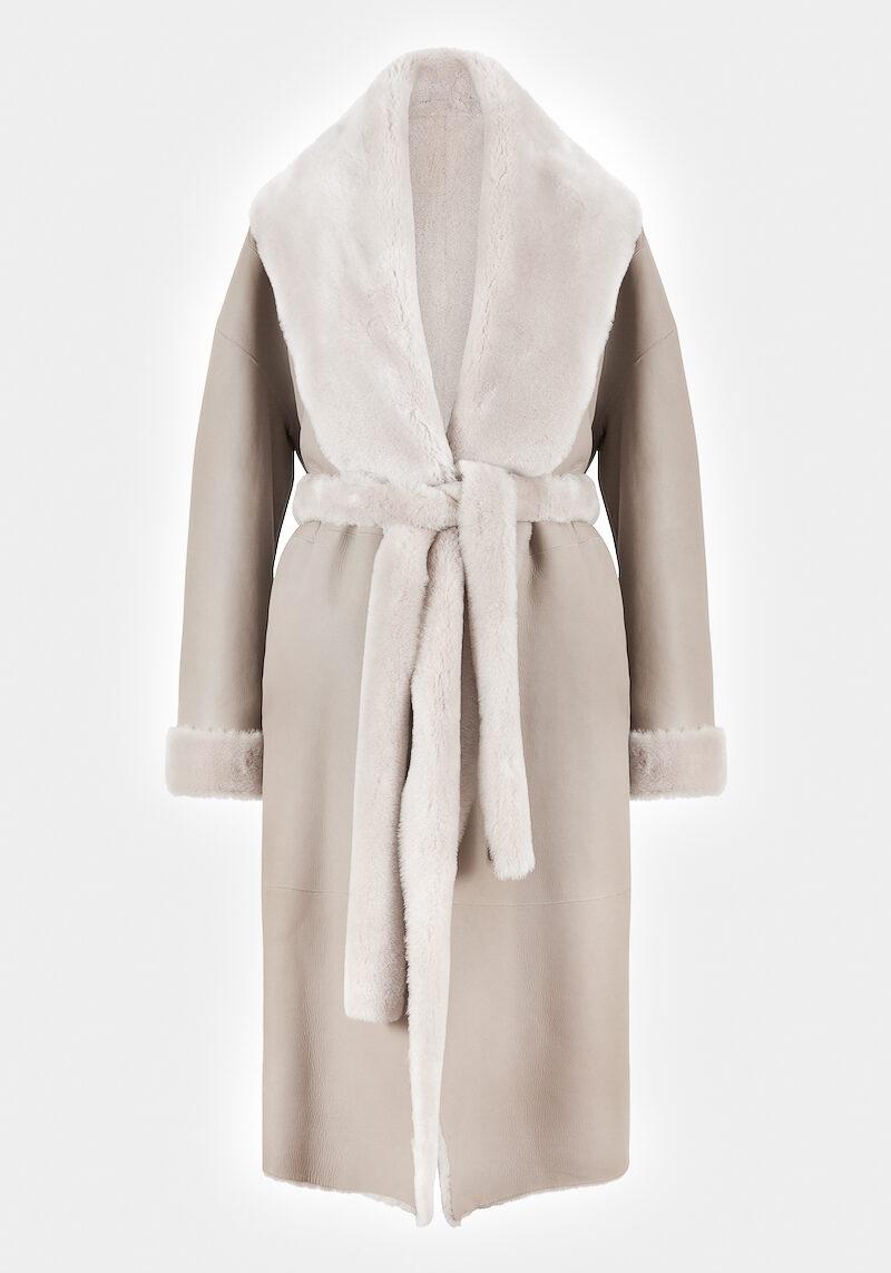 fleur-manteau-elegant-chaud-confortable-grand-col-ceinture-agneau-retourne-peau-lainee-nude